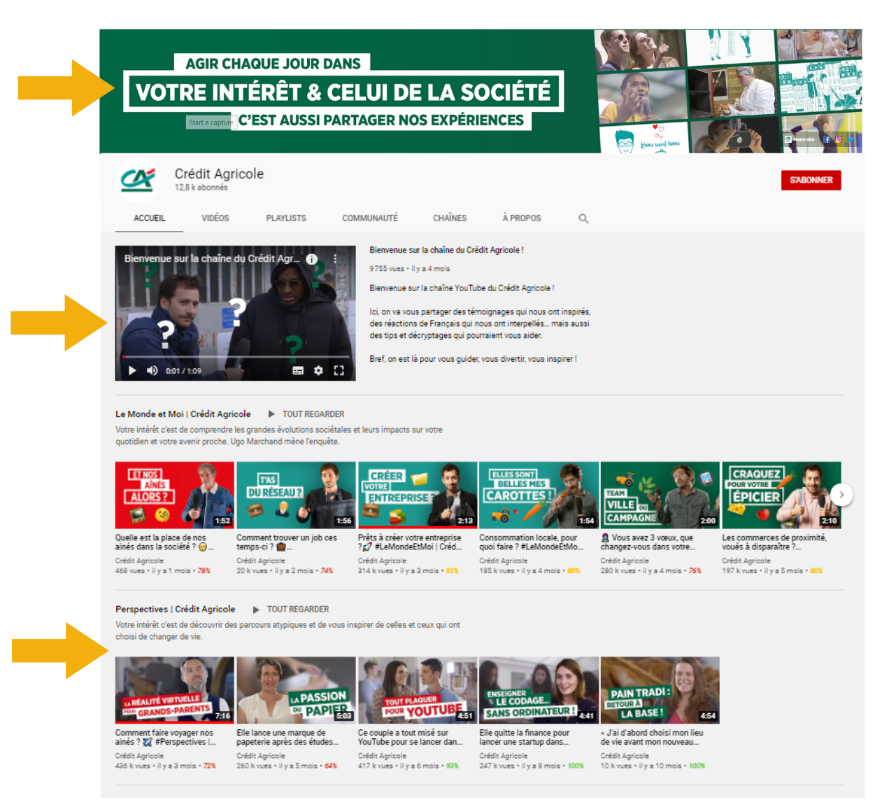 Credit agricole youtube